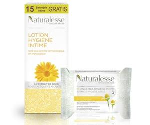 lotiune intima si servetele cu extract de musetel naturalesse